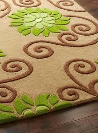 orange and green rug