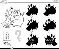 かわいいファーム動物シャドウ ゲーム塗り絵 お絵かきのベクターアート