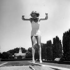 wealth on the peninsula a life photo essay sfgate simone hotaling bounces on the diving board at the filoli estate pool in woodside california
