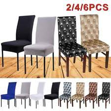 1 2 4 6 chair covers removable stretch slipcovers dining room fabric seat