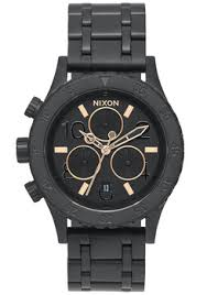 nixon watches on up to 60% off official dealer nixon 38 20 chrono all black rose gold a404957