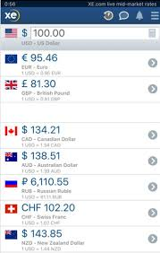 Xe Exchange Rate Chart Xe Currency Exchange App Million Mile Secrets