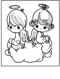 Precious Moments Valentine Angels Coloring Pages Get Coloring Pages