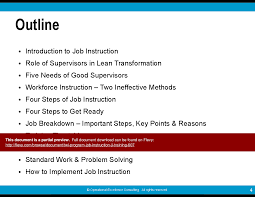 twi program job instruction ji training powerpoint