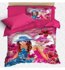 else pink blue girls flowers fl cartoon kids 3d print cotton satin single duvet cover bedding