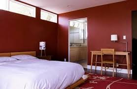 Amazing Red Bedroom Wall Paint Color Scheme Picture