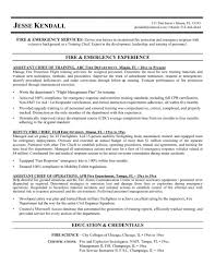 sample fire resume