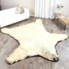 fake bear skin rug with head foot polar bear rug faux bear skin rug with head