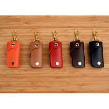 leather key holder cover keychain keyring fobs case richbud handmade leather craft