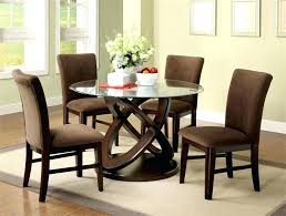 round glass top dining table and chairs top adorable popular round glass dining table set room