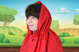 no sew diy little red riding hood cape