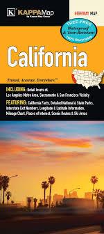 California State Waterproof Map