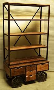 industrial furniture wheels. Industrial Design Bookshelf On Wheels Furniture