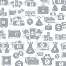 Background Of Money Icons Stock Vector Image