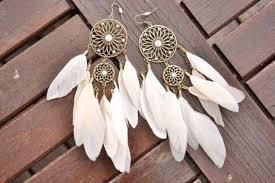 Dream Catcher Earing Jewels earrings dreamcatcher summer beautiful white boho 42
