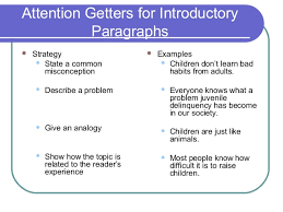 elements of an effective essay attention getters