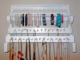 attractive necklace holder diy for better jewelry organizer good with cute necklace wall organizer for better