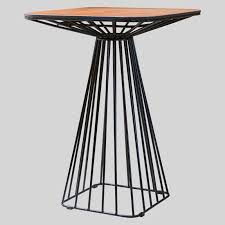 Gauge wire bar table alfreso sawn lumber black