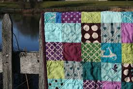 FITF: purple patchwork… with panthers, pigs and polka dots! | Film ... & Another patchwork square quilt! purple-patchwork2 Adamdwight.com