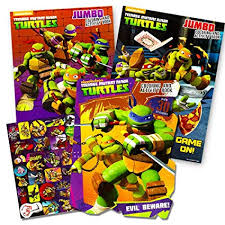 age mutant ninja turtles coloring and activity book set with stickers 3 tmnt coloring books