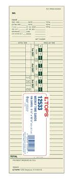 Timecard Ca Tops Time Card Weekly Manila 10 100312 Green Ink Front Small