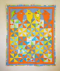Child Quilt / Lap Quilt / Kid Quilt / Throw Quilt / Modern Quilt ... & Kids Single Bed Quilt, Children Quilt with Funny Ghosts, 61x50 in, Colorful  Patchwork Blanket, Yellow Blue Orange Nursery Bedding Adamdwight.com