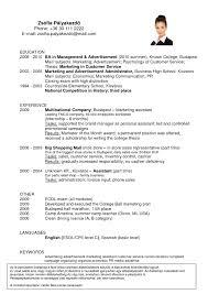 Advertise Resume Advertising Resume Template 16 Free Samples