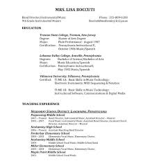 music teacher resume