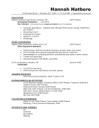 Resume Anticipated Graduation Date Sample