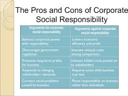 pros and cons corporate social responsibility diverse global pros and cons corporate social responsibility