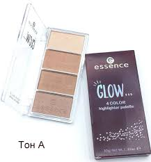 <b>Палетка хайлайтеров Essence</b> Glow 4 Color Highlighter Palette ...