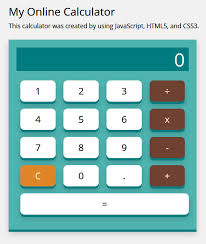 making an online calculator using javascript see shell design calc