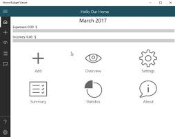 Windows 10 Home Budget Management App Manage Income Expenses