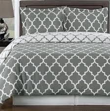 gray duvet cover geometric