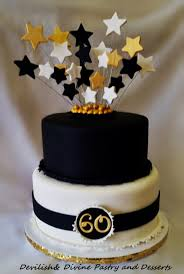 Black Birthday Cakes Inspirational 60th Cake Decorating Ideas Best