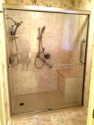 walk in shower with seat walk in shower with bench custom seat showers seats decorations dimensions