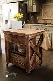 interior ana white rustic x small rolling kitchen island diy projects clean on wheels excellent
