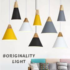 modern wood pendant lights colorful aluminum lamp shade luminaire dining room lights pendant lamp for home lighting pendant lamp shades glass pendant light