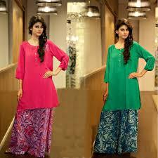 Pakistani Designer Palazzo Pants Latest Fashion Of Short Shirts With Palazzo Pants In Asia