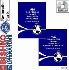 vehicle repair manuals literature 1996 ford truck bronco econoline shop service repair manual cd