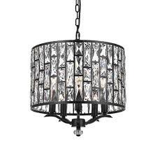 ripoli 41cm oil bronze and crystal lattice drum pendant