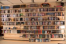 DIY DVD Shelves for Large Collection - Shelves Filled   SuperNoVAwife
