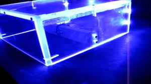 diy variable power supply with acrylic case and led lighting