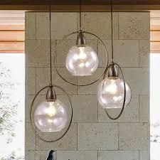 luna antique black 3 light clear glass globe iron loop pendant throughout chandelier design 6