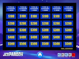 Jeopardy Powerpoint Template Extraordinary Customizable Jeopardy Powerpoint Template Etsy