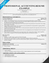 Accounting Professional Resume Resume And Cover Letter Resume