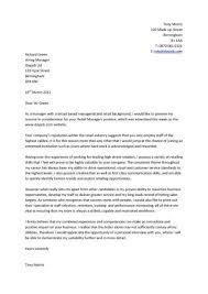 Cover Letter Example For Job Application Cover Letter Examples