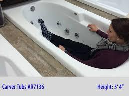 ar7136 bathtub with a 6 foot male model inside the tub
