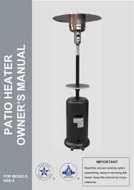 patio heater owner s manual az patio