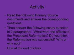 the protestant reformation ppt video online 14 activity